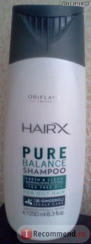 Шампунь для жирных волос Oriflame HairX Pure Balance Shampoo фото