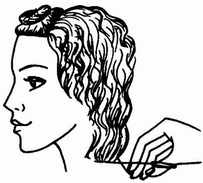 окантовка волос на затылке