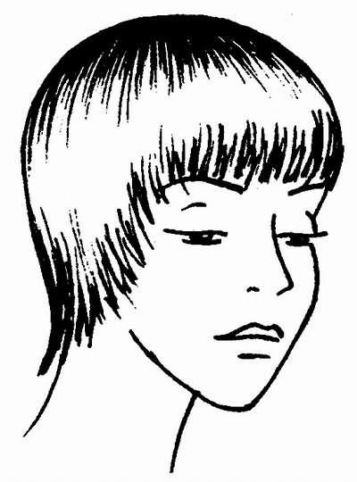 «рваная» окантовка волос