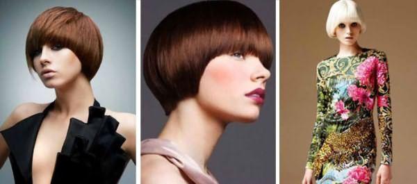 Ретро-стрижка сэссун для коротких волос