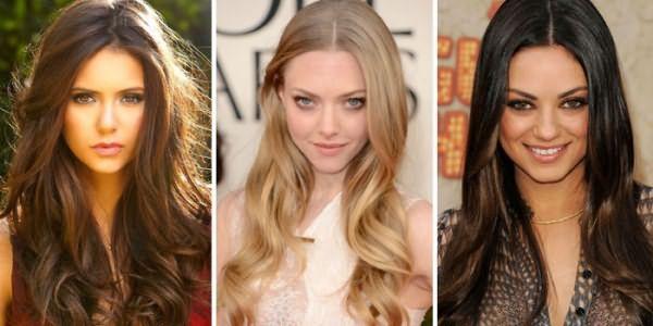Фото девушек с каскадом и голливудскими локонами на длинных волосах