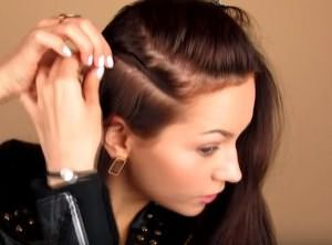 укладка волос средней длины своими руками 4