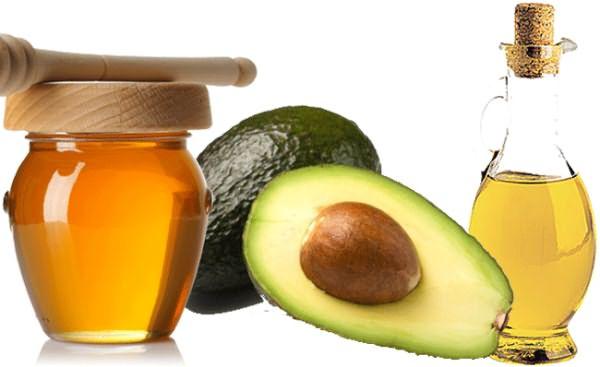 Авокадо, мед, масло