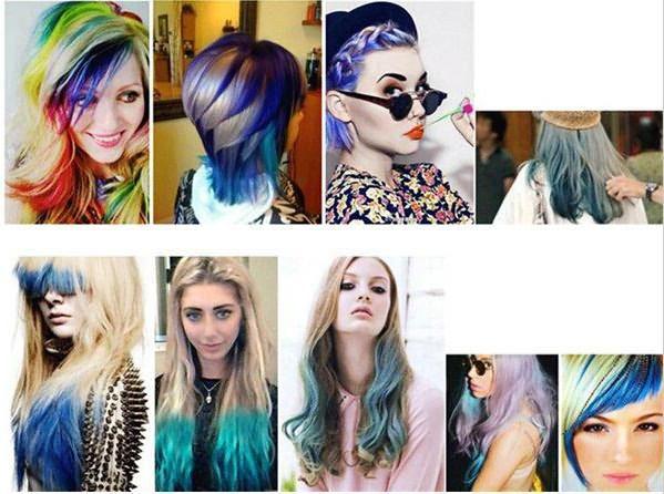 мелки для волос цвета