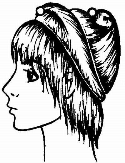 вариант деления волос на зоны