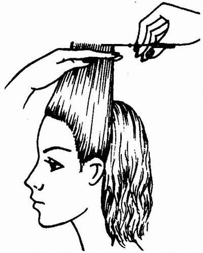 стрижка височных зон ориентирована на волосы фронтальной зоны
