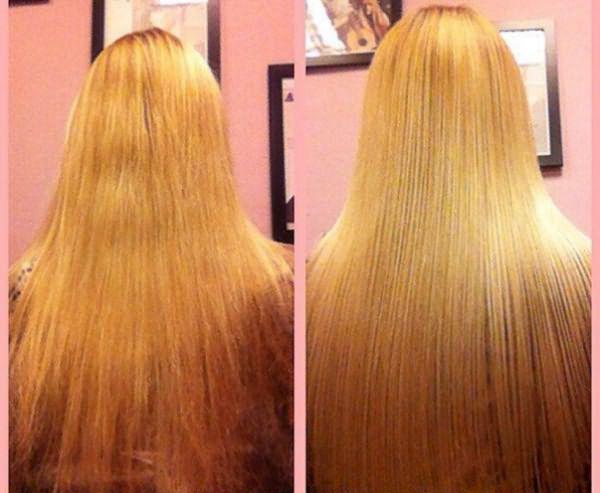 Процедура ботокс для волос: до и после