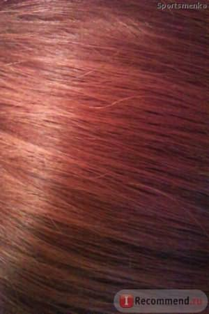 Фото без вспышки: волосы после окрашивания волос краской SYOSS 8-7 Карамельный блонд - не пугайтесь, если волосы у вас не были ранее окрашены в рыжий оттенок, то результат будет не таким рыжим :)