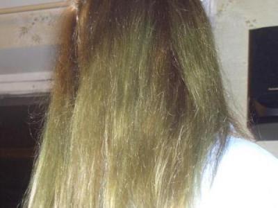 Результат проведённой на окрашенные волосы процедуры