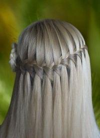 Французская коса на короткие волосы 1