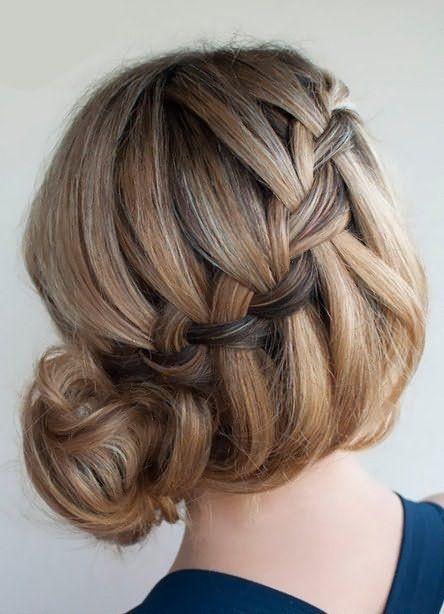 Французская коса на короткие волосы 2