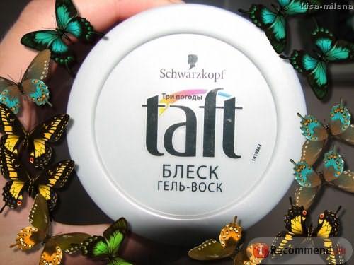 Воск для укладки Taft Блеск гель-воск фото