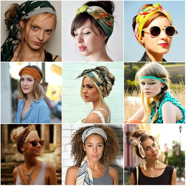 Прически с шарфом на голове