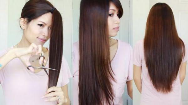 как можно подстричь кончики волос красиво
