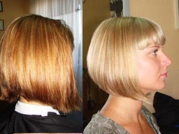 Фото мелированных волос до и после тонирования