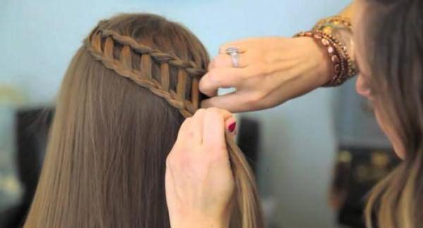 как плести водопад из волос пошаговая инструкция фото