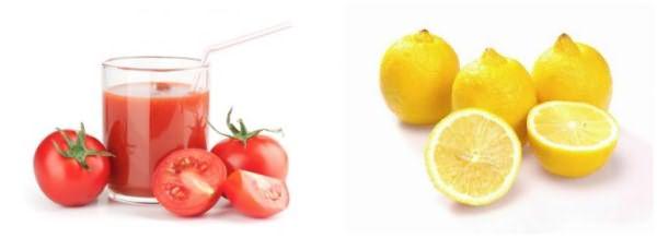 Томатный сок и лимоны