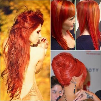 Темно рыжаякраска для волос позволяет делать двуцветное окрашивание и колорирование