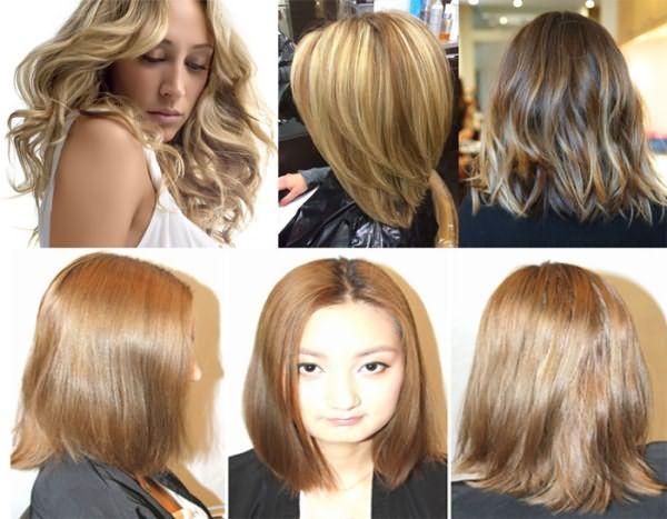 Результаты колорирования волос