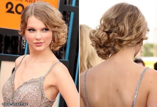 Укладка на бок на средних волосах