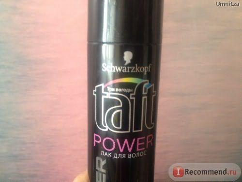 Лак для волос Schwarzkopf Taft Power Три Погоды Мегафиксация&Мягкость Кашемира фото