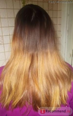 Домашнее ламинирование волос с желатином,фото ДО