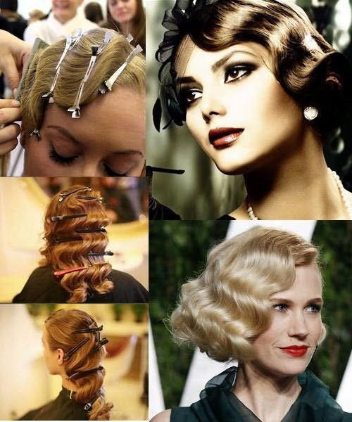 Способ создания волн на волосах с помощью зажимов