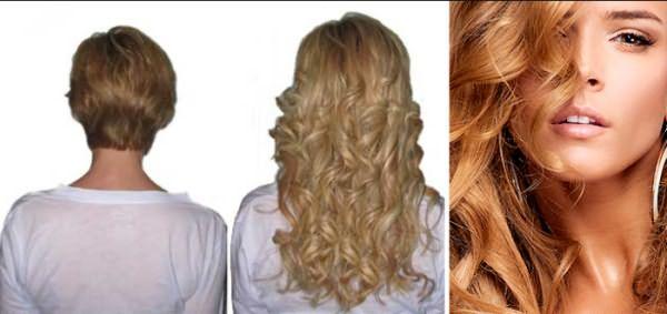 Наращивание волос на короткие волосы: результаты