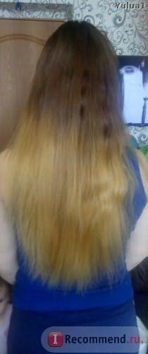 Волосы, высушенные феном и расчесанные расческой
