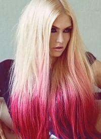 омбре на длинные прямые волосы 5