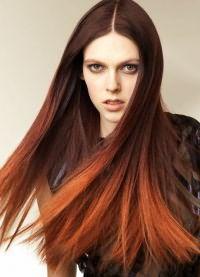 омбре на длинные прямые волосы 9