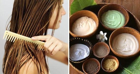 Различные питательные маски, нанесение на волосы