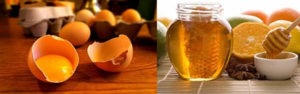 Яичные желтки, мед, лимон