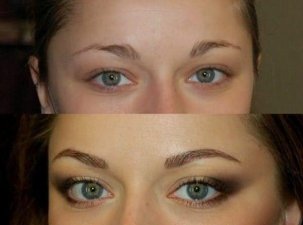 Краску часто можно заменить ярким макияжем