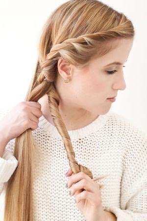 Плетение романтичной косы: шаг 4