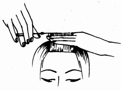 окончательная стрижка волос фронтальной зоны