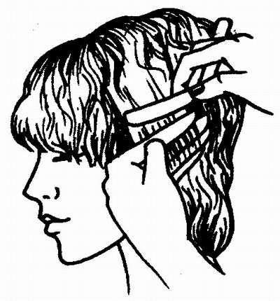филировка волос бритвой