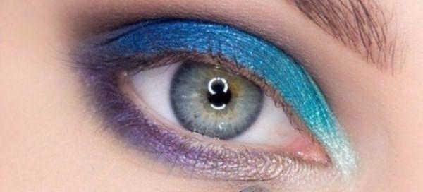 красивый макияж для голубых глаз 5
