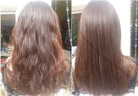Посеченные волосы до и после стрижки