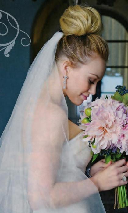 свадебные прически на каре фото