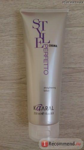 Выпрямляющий лосьон для волос Kaaral Perfetto Style с эффектом термозащиты фото