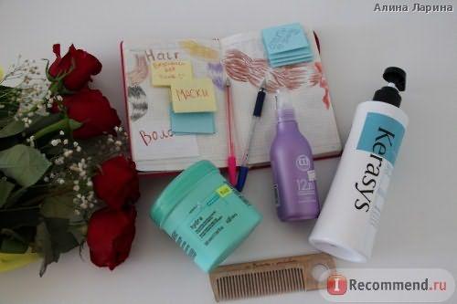 на фото представлены: маска + новые увлажняющие средства использованные перед написание отзыва