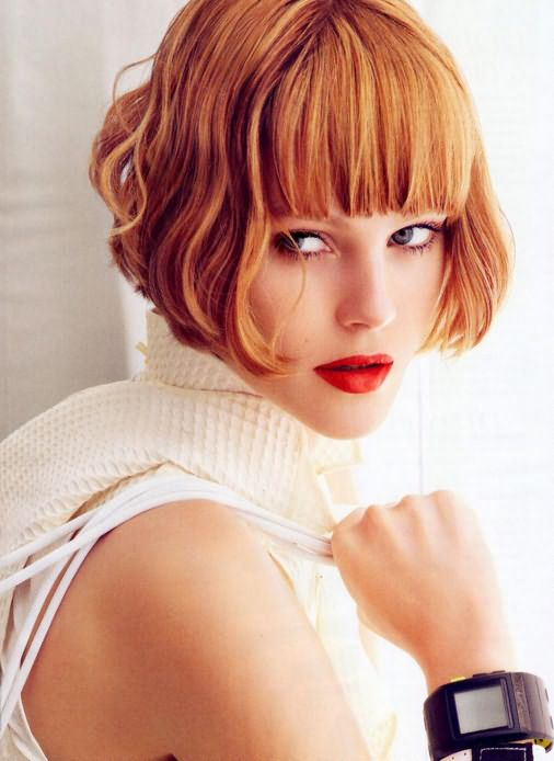 Рыжие короткие волосы