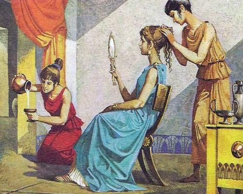 Окрашивание практиковалось еще в Древней Греции