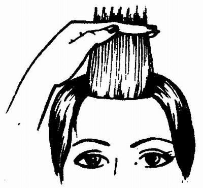 филировка волос прямыми ножницами