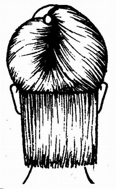 волосы затылочной зоны стригутся методом прядь на прядь