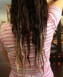 Волосы сразу после процедуры омбре