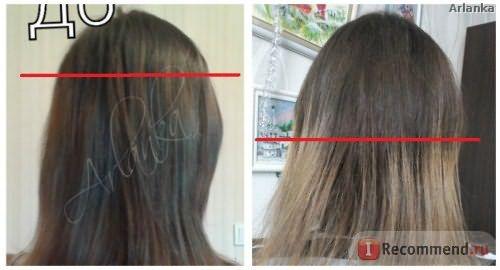 Изменения роста волос по цвету за ПОЛГОДА