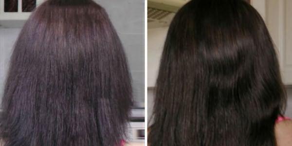 Волосы до и после дарсонвализации