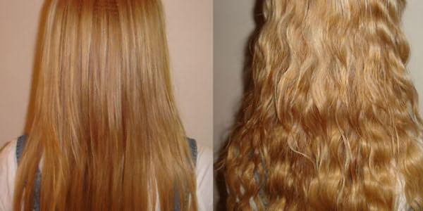 Волосы до и после домашнего карвинга